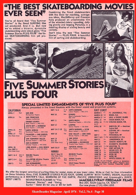 Five Summer Stories Plus Four