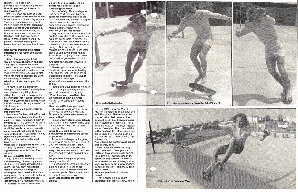 +Skateboard world August 1977 p3-4