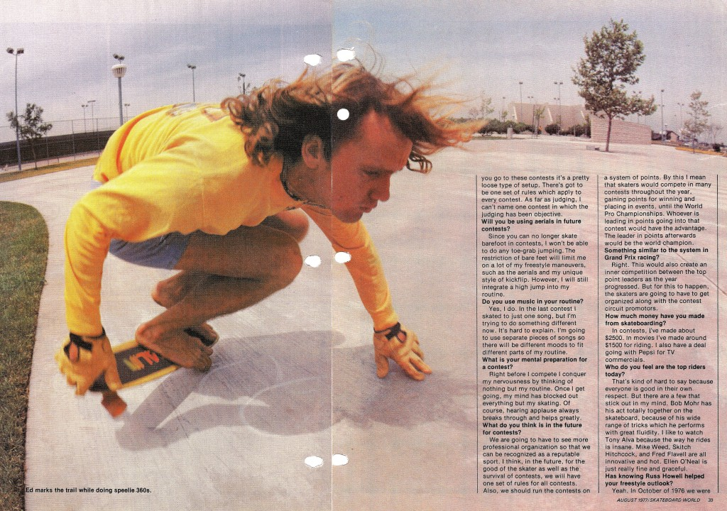 +Skateboard world August 1977 p5-6