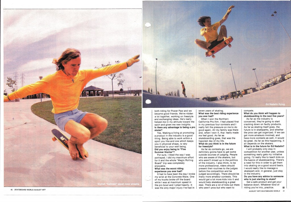 +Skateboard world August 1977 p7-8