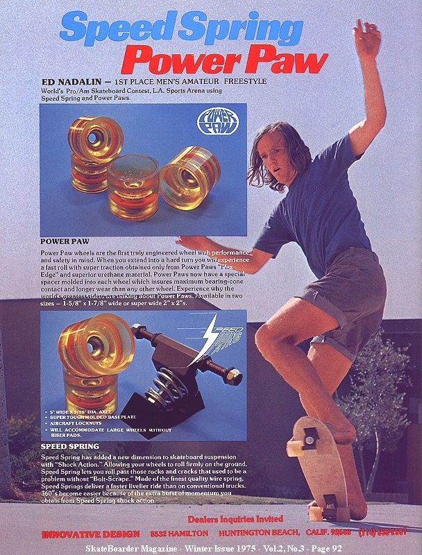 +1975 first Ad for Power Paw- Speed Springs