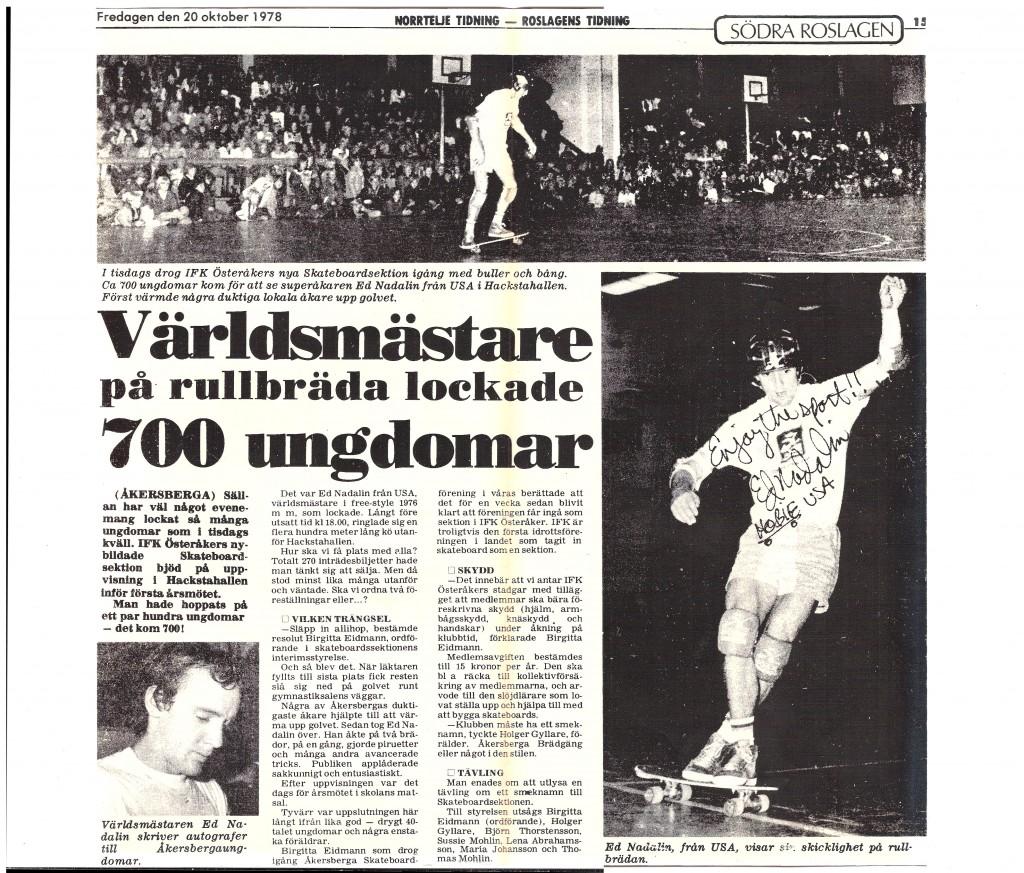 +akersberga sweden 20 October 1978
